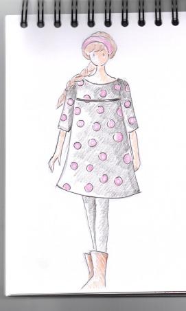 Robe trapèze pois Aut 18