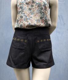 Short jeans noir T36 1